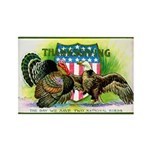 National Birds on Thanksgivin Rectangle Magnet