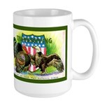 National Birds on Thanksgivin Large Mug