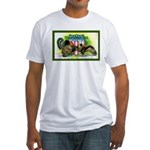 National Birds on Thanksgivin Fitted T-Shirt
