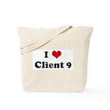 I Love Client 9 Tote Bag