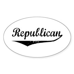 Republican Oval Decal