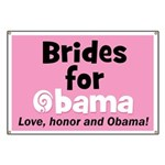 Obama Wedding Party Gift Banner
