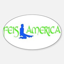 Feis America Male Logo Oval Decal