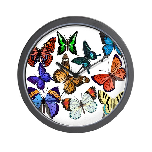 Butterflies Wall Clock by rightwingwomen