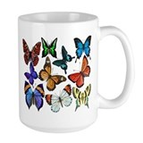 Butterflies Large Mugs (15 oz)