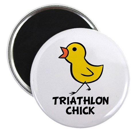 "Triathlon Chick 2.25"" Magnet (10 pack)"