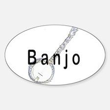 Banjo Oval Sticker (10 pk)