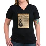 Soapy Smith Women's V-Neck Dark T-Shirt
