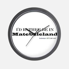 i'd rather be in Matebeleland Wall Clock