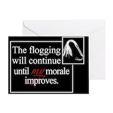 Flogging Morale Greeting Card