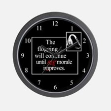 Flogging Morale Wall Clock