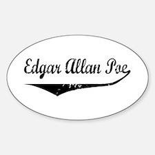 Edgar Allan Poe Oval Decal