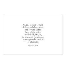 GENESIS  19:28 Postcards (Package of 8)