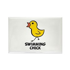Swimming Chick Rectangle Magnet