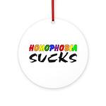 homophobia sucks Ornament (Round)