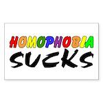 homophobia sucks Rectangle Sticker