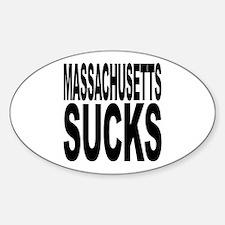 Massachusetts Sucks Oval Decal
