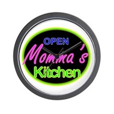 Momma's Kitchen Open Wall Clock
