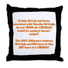 Obama and Ayers Throw Pillow