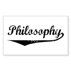 Philosophy Rectangle Sticker