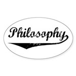 Philosophy Oval Sticker