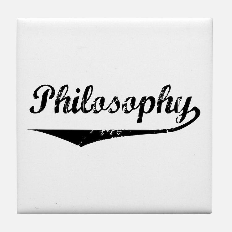Philosophy Tile Coaster