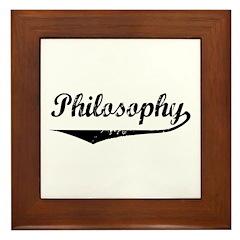 Philosophy Framed Tile