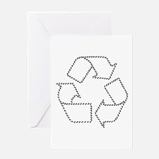 Recycling Carbon Footprint Greeting Card