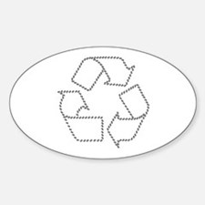 Recycling Carbon Footprint Oval Decal