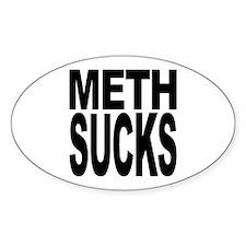 Meth Sucks Oval Sticker