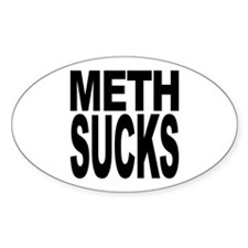 Meth Sucks Oval Decal