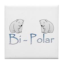 Bi-Polar Bears Tile Coaster