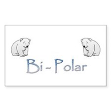Bi-Polar Bears Rectangle Decal