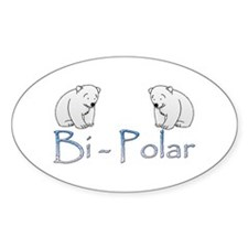 Bi-Polar Bears Oval Decal