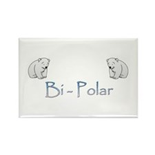 Bi-Polar Bears Rectangle Magnet (10 pack)