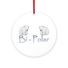Bi-Polar Bears Ornament (Round)