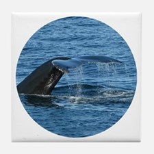 Whale Tail II- Tile Coaster