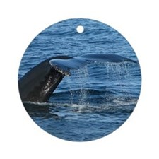 Whale Tail II- Ornament (Round)