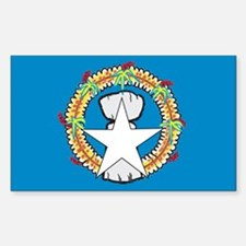 Northern Mariana Islands Rectangle Decal