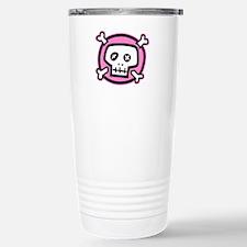 pink dead skull Travel Mug