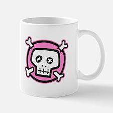 pink dead skull Mug