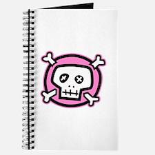 pink dead skull Journal