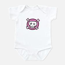 pink dead skull Infant Bodysuit