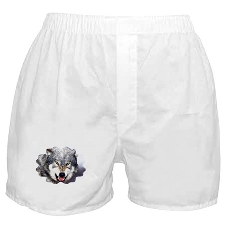 wolf snarl Boxer Shorts