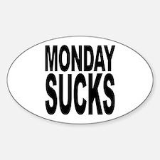Mondays Suck Oval Decal