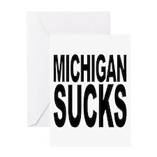 Michigan Sucks Greeting Card