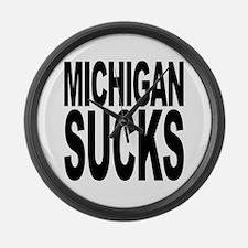 Michigan Sucks Large Wall Clock
