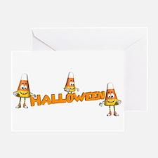 CANDY CORN HALLOWEEN Greeting Card