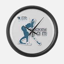 Hockey-Mom Large Wall Clock