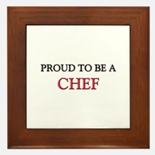 Proud to be a Chef Framed Tile